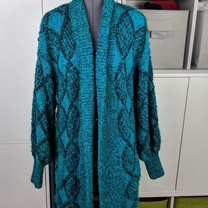 Vintage karen scott knit duster